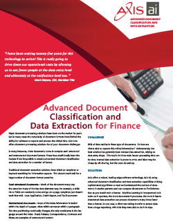 Finance Data Sheet