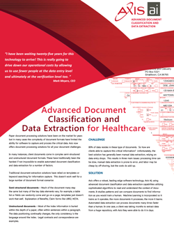 Healthcare Data Sheet